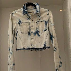 L'Agence Zuma cropped jacket raw hem! NWOT